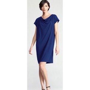 Eileen Fisher Cowl Neck Shift Dress